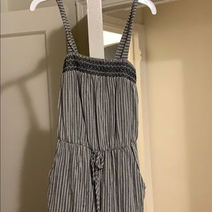 Target Dresses - Dark gray and white jumpsuit